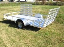 Aluminum Trailer 7 x 12 Best Quality and Value Side Gate