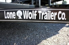 7 X 12 Single Axle Lone Wolf Landscape Trailer